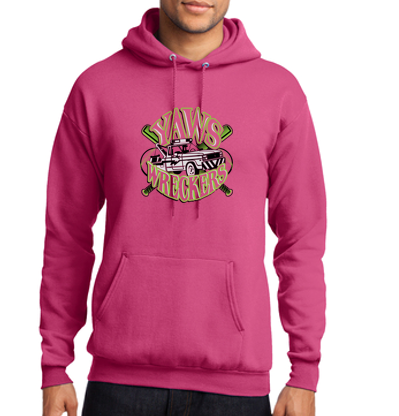 Yaw Wreckers - Youth/Adult/Tall Hooded Sweatshirts (Multiple Colors)