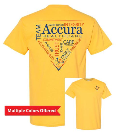 Accura Healthcare - Unisex 100% Cotton Short Sleeve T-Shirt