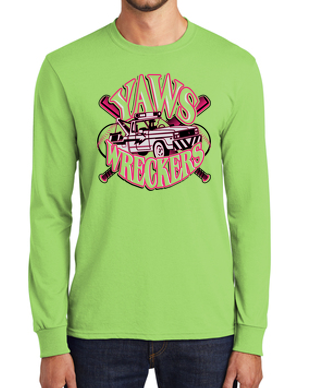 Yaw Wreckers - Youth/Adult/Tall Long Sleeve Tshirt (Multiple Colors)