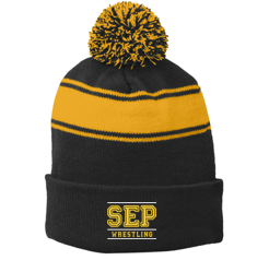 SEP Wrestling - Stripe Pom Pom Beanie
