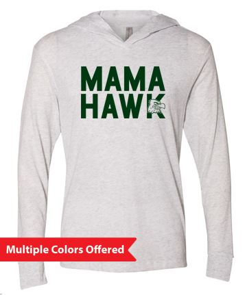 Woodward Granger Winter '19 - Unisex Triblend Hooded Long Sleeve Pullover (Mama Hawk)