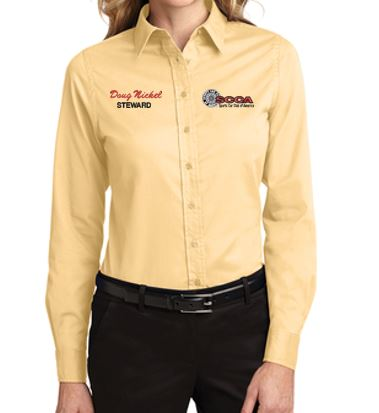 SCCA Ladies Long Sleeve Button Down Shirt