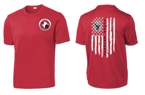2/34 Infantry Brigade Civilian Store - Unisex PosiCharge Competitor T-Shirt (Red)