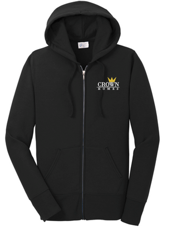 Crown Homes - Ladies Full-Zip Sweatshirt (Available in Multiple Colors)