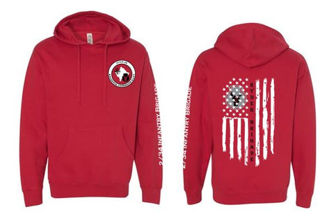2/34 Infantry Brigade Civilian Store - Unisex Pullover Hooded Sweatshirt (Red)