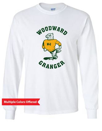 Woodward Granger Fall 2020 - Adult/Youth 100% Cotton Long Sleeve T-shirt (Standing Hawk)