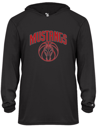 Mustangs - Youth Hooded Tshirt in Various Colors (Red Design)