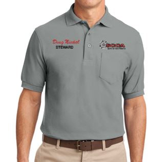 Mens SCCA Short Sleeve Polo