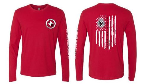2/34 Infantry Brigade Civilian Store - Unisex Long Sleeve T-Shirt (Red)