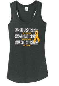 Des Moines Area Oncology - Ladies Racerback Tank
