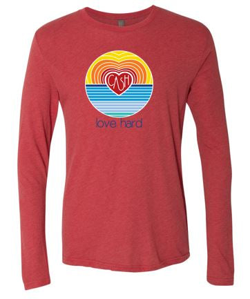 Love Hard - Unisex Long Sleeve Tshirt (Multiple Colors)