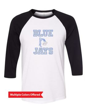 Bondurant Farrar PTO Spring 2021 - Youth/Adult Three-Quarter Sleeve Baseball Tee (Rhinestones Design)