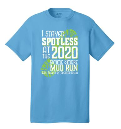 Girl Scouts of Greater Iowa Mud Run - Adult/Unisex Short Sleeve T-shirt 4XL