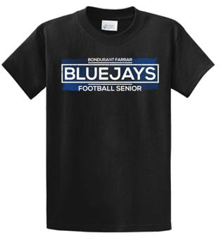 Bondurant Farrar Football Seniors 2020 - Adult 100% Cotton T-shirt (Seniors)
