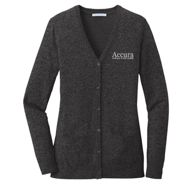 Accura Healthcare - Ladies Cardigan Sweater (Multiple Colors)