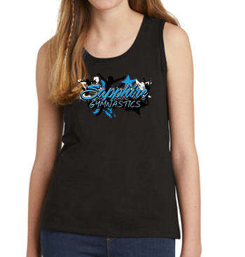 Sapphire Gymnastics - Girls Tank Top (Multiple Colors)