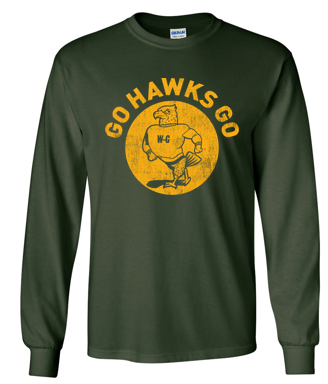 Woodward Granger Winter '19 - Youth/Adult 100% Cotton Long Sleeve Tshirt (Go Hawks)