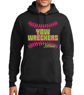 Yaw Wreckers - PERSONALIZED Youth/Adult Black Hooded Sweatshirt