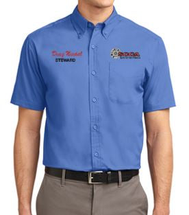 SCCA Mens Short Sleeve Button Down Shirt