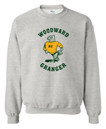 Woodward Granger Fall 2020 - Adult/Youth Crewneck Sweatshirt (Standing Hawk)