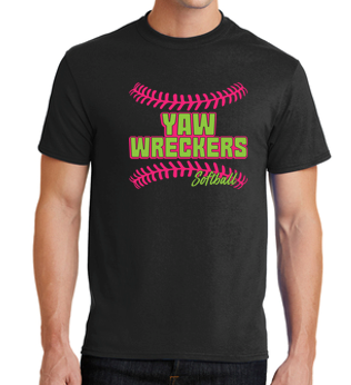 Yaw Wreckers - PERSONALIZED Youth/Adult Black Tshirt
