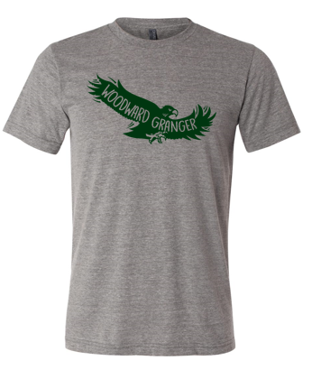 Woodward Granger PTO 2019 - Unisex Triblend Tshirt in Multiple Colors (Flying Hawk)