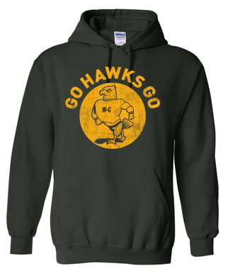 Woodward Granger Winter '19 - Youth/Adult Hooded Sweatshirt (Go Hawks)