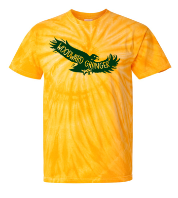 Woodward Granger PTO 2019 - Youth/Adult Tie-Dye Tshirt (Flying Hawk)