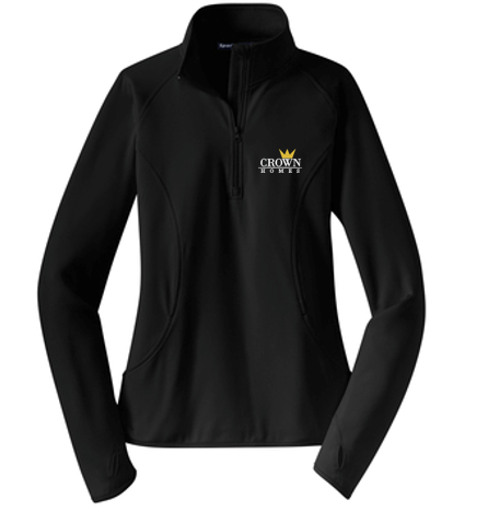 Crown Homes - Ladies 1/2 Zip Pullover (Available in Multiple Colors)