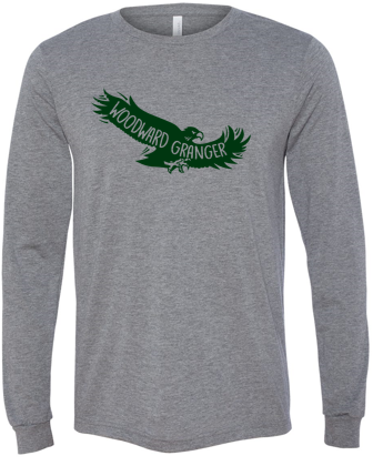 Woodward Granger PTO 2019 - Youth/Adult Long Sleeve Tshirt in Multiple Colors (Flying Hawk)