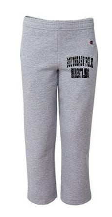 Southeast Polk Wrestling Store - Youth Champion Open Bottom Sweatpants with Pockets