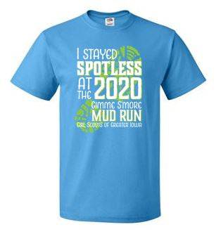 Girl Scouts of Greater Iowa Mud Run - Adult/Unisex Short Sleeve T-shirt