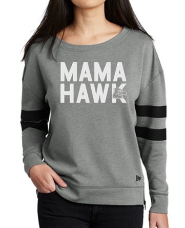 Woodward Granger Fall '19 - Ladies New Era Tri-Blend Varsity Crewneck Sweatshirt (Mama Hawk)