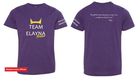 Team Elayna Forever -Youth Find Jersey T-Shirt