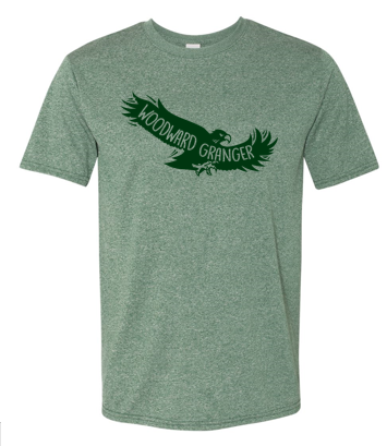 Woodward Granger PTO 2019 - Youth/Ladies/Adult Performance Polyester Tshirt (Flying Hawk)