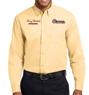 SCCA Mens Long Sleeve Button Down Shirt