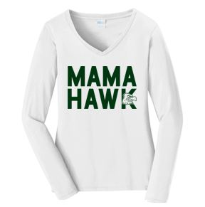 Woodward Granger Fall '18 - Ladies V-Neck Long Sleeve in various colors (Mama Hawk)