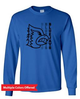 Bondurant Farrar PTO Spring 2021 - Youth/Adult 100% Cotton Long Sleeve T-Shirt (Blue Jay Design)