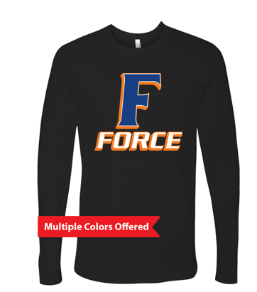 Iowa Elite Force Spring '20 -  Adult 100% Cotton Long Sleeve Tshirt (F Design)