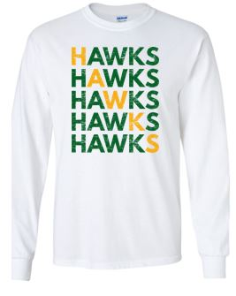 Woodward Granger Fall '18 - Youth/Adult Long Sleeve Tshirt in Various Colors (HAWKS)