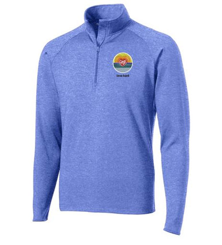 Love Hard - Ladies/Unisex Quarter Zip Pullover (Multiple Colors)