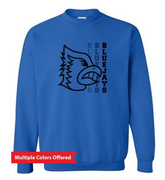Bondurant Farrar PTO Spring 2021 - Youth/Adult Heavy Blend Crewneck Sweatshirt (Blue Jay Design)
