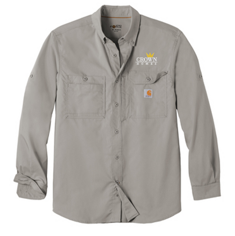 Crown Homes - Unisex/Adult Carhartt Ridgefield Long Sleeve Shirt