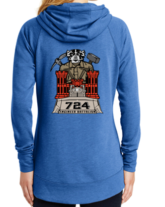 724 EN BN - Women's New Era Tri-Blend Fleece Pullover Hoodie