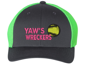 Yaw Wreckers - Fitted Trucker Cap