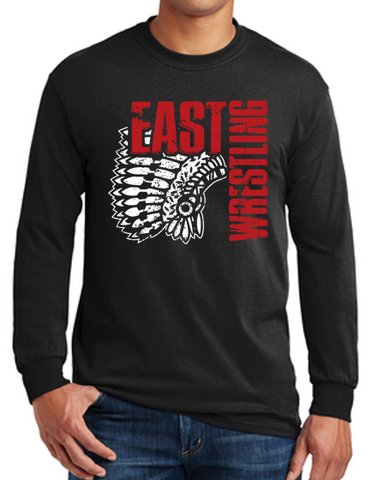 East High Wrestling Club - Unisex 100% Cotton Long Sleeve T'Shirt