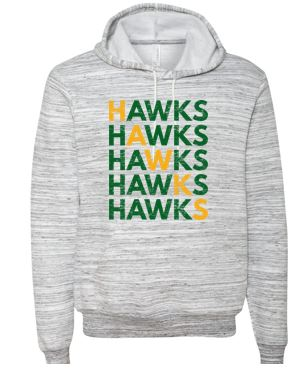 Woodward Granger Fall '18 - Adult Marbled Sweatshirt (HAWKS)