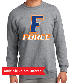 Iowa Elite Force Spring '20 - Youth/Adult Crewneck Sweatshirt (F Design)