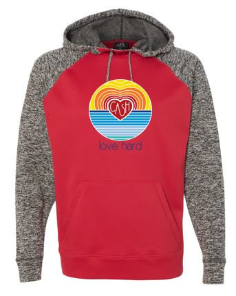 Love Hard - Unisex Cosmic Hooded Sweatshirt (Multiple Colors)