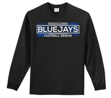 Bondurant Farrar Football Seniors 2020 - Adult 100% Cotton Long Sleeve T-shirt (Seniors)
